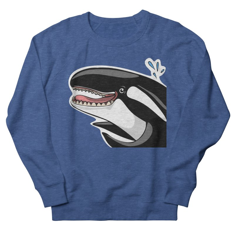 Happy Killer Whale Men's Sweatshirt by elledeegee's Artist Shop