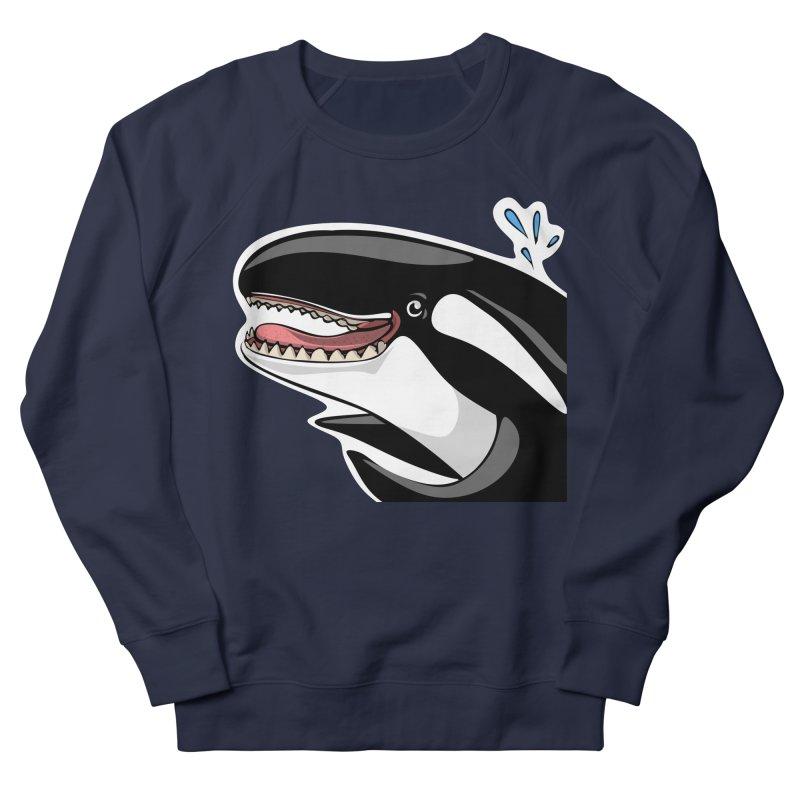 Happy Killer Whale Men's French Terry Sweatshirt by elledeegee's Artist Shop