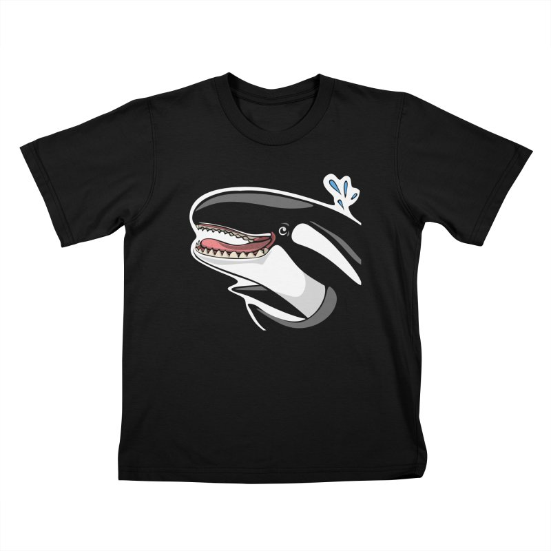 Happy Killer Whale Kids T-Shirt by elledeegee's Artist Shop