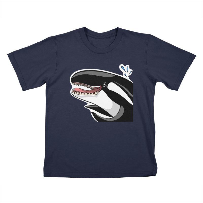 Happy Killer Whale Kids Toddler T-Shirt by elledeegee's Artist Shop