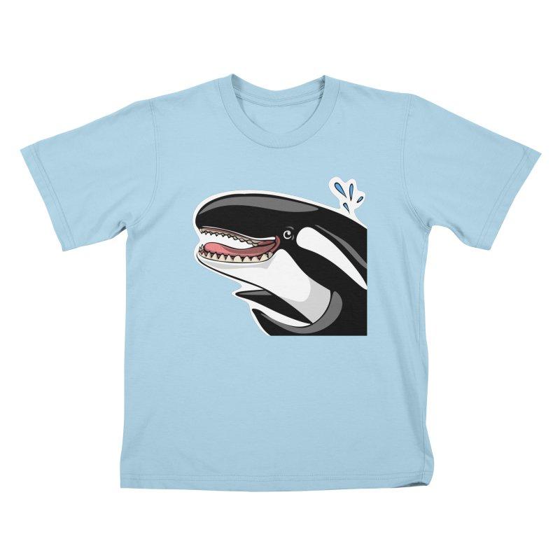 Happy Killer Whale Kids T-Shirt by elledeegee's Artist Shop