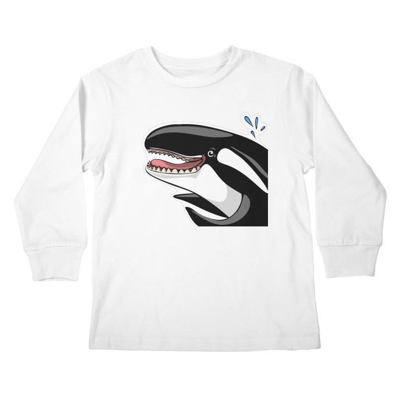 Happy Killer Whale Kids Longsleeve T-Shirt by elledeegee's Artist Shop