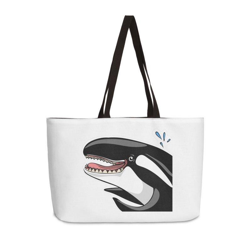 Happy Killer Whale Accessories Weekender Bag Bag by elledeegee's Artist Shop