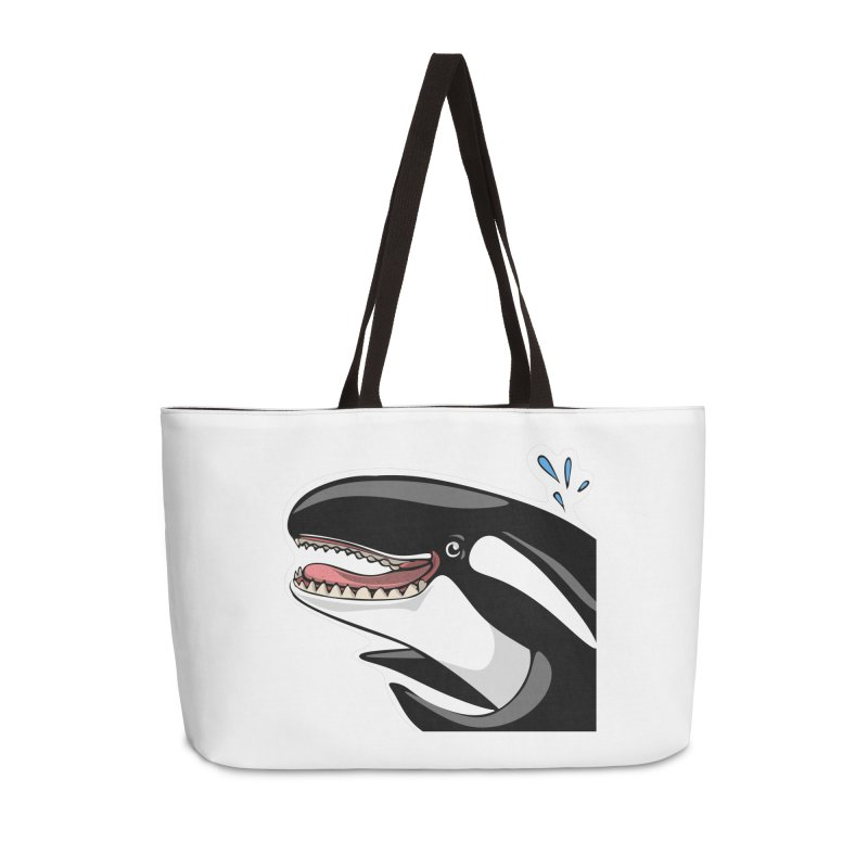 Happy Killer Whale Accessories Bag by elledeegee's Artist Shop