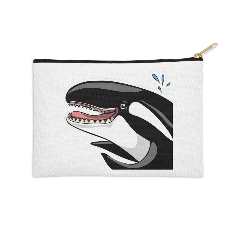 Happy Killer Whale Accessories Zip Pouch by elledeegee's Artist Shop