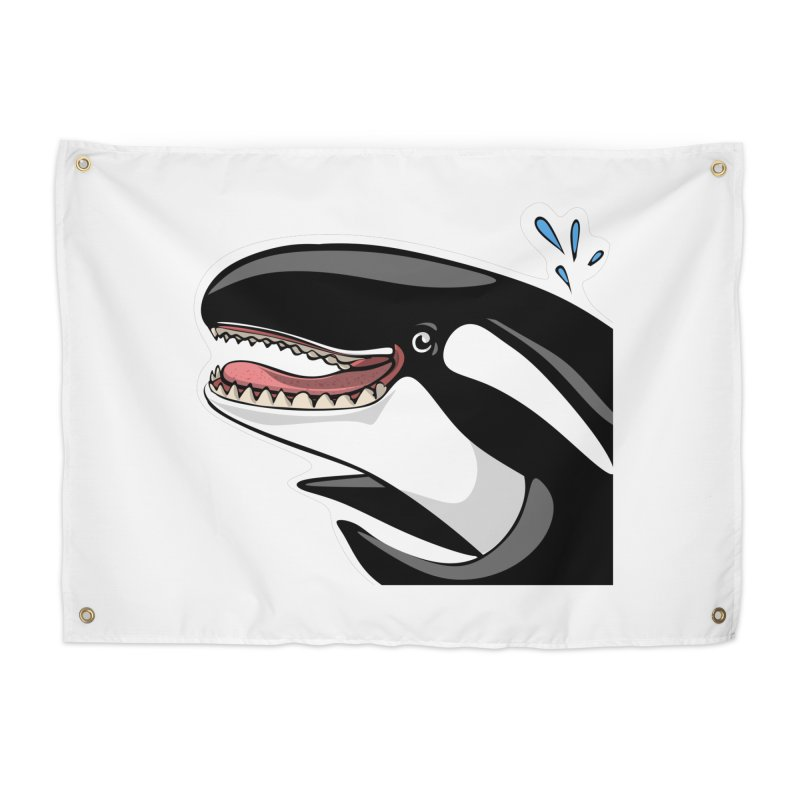 Happy Killer Whale Home Tapestry by elledeegee's Artist Shop