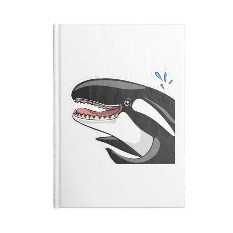 Happy Killer Whale Accessories Notebook by elledeegee's Artist Shop