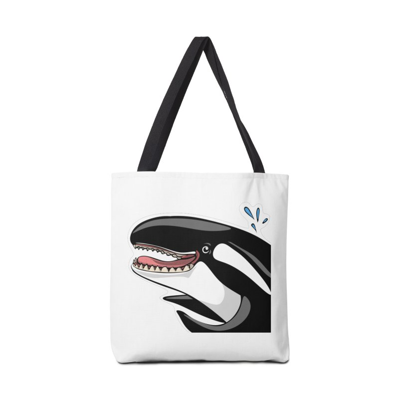 Happy Killer Whale Accessories Bag by elledeegee's Artist Shop