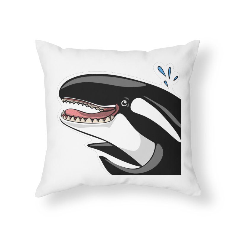 Happy Killer Whale Home Throw Pillow by elledeegee's Artist Shop