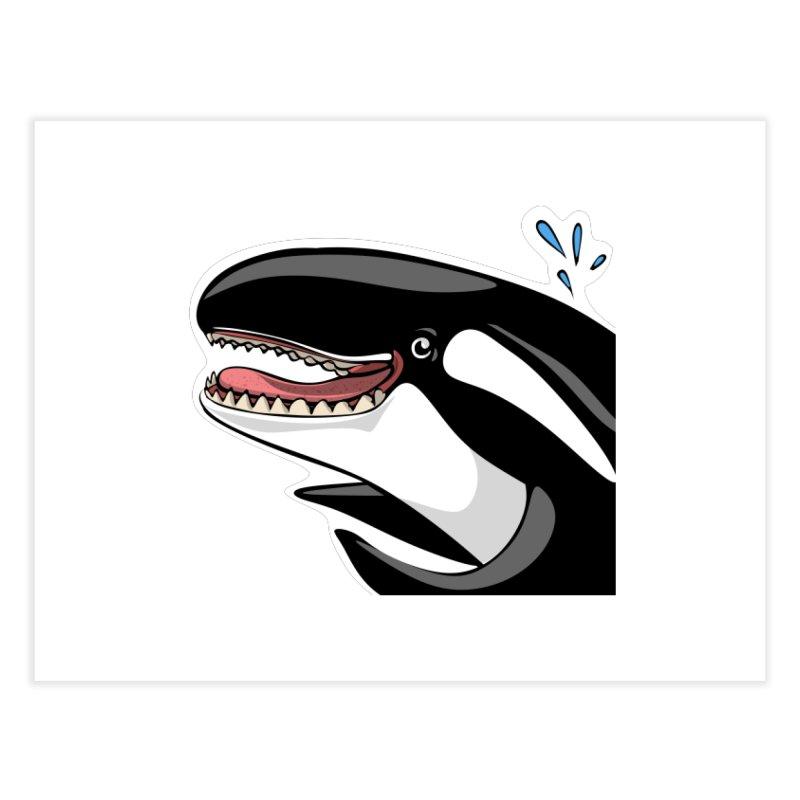 Happy Killer Whale Home Fine Art Print by elledeegee's Artist Shop