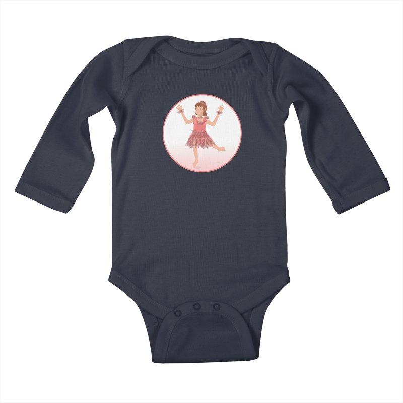 Happy Ballerina Kids Baby Longsleeve Bodysuit by elledeegee's Artist Shop