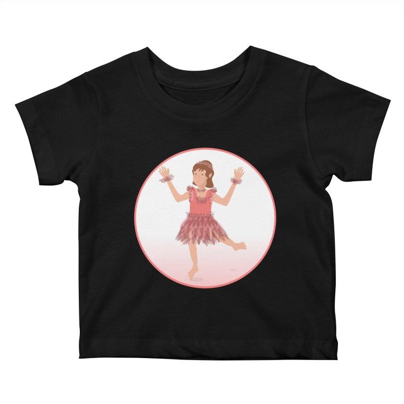 Happy Ballerina Kids Baby T-Shirt by elledeegee's Artist Shop