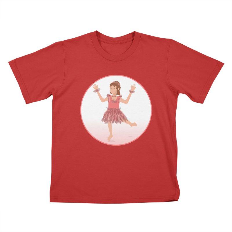 Happy Ballerina Kids T-Shirt by elledeegee's Artist Shop