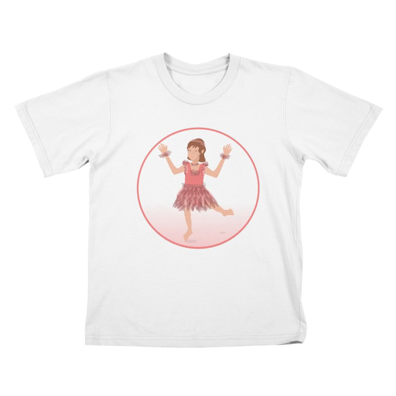 Happy Ballerina Kids T-Shirt by elledeegee's Artist Shop