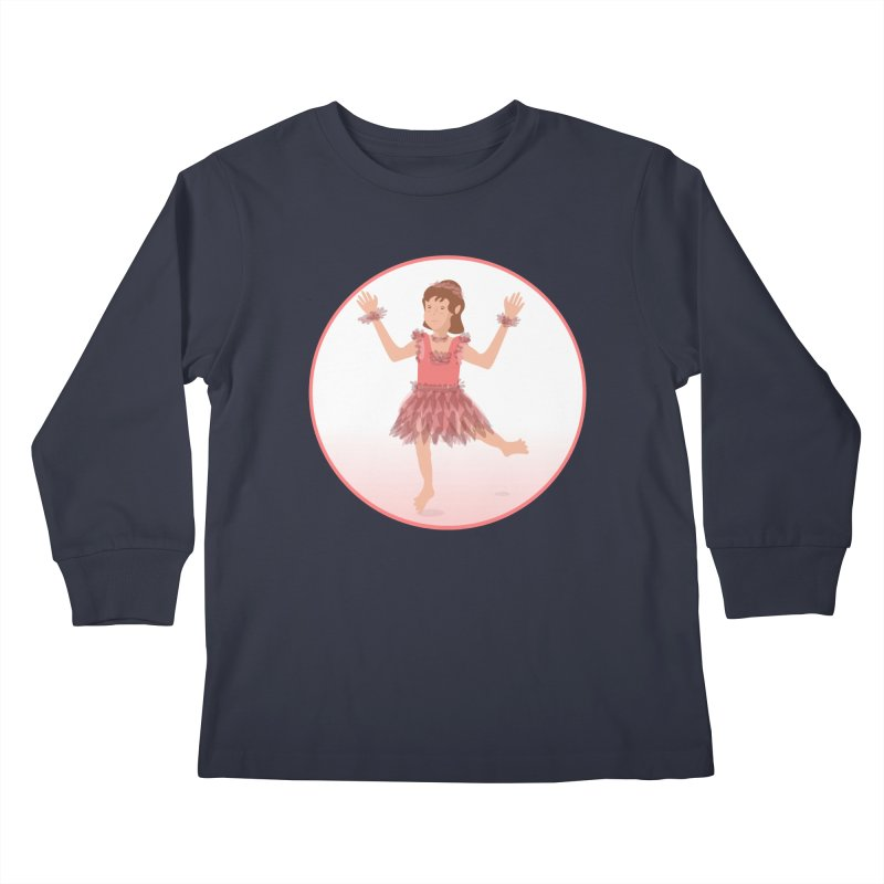 Happy Ballerina Kids Longsleeve T-Shirt by elledeegee's Artist Shop