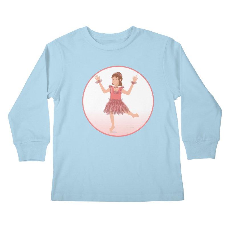 Happy Ballerina Kids Longsleeve T-Shirt by elledeegee's Artist Shop