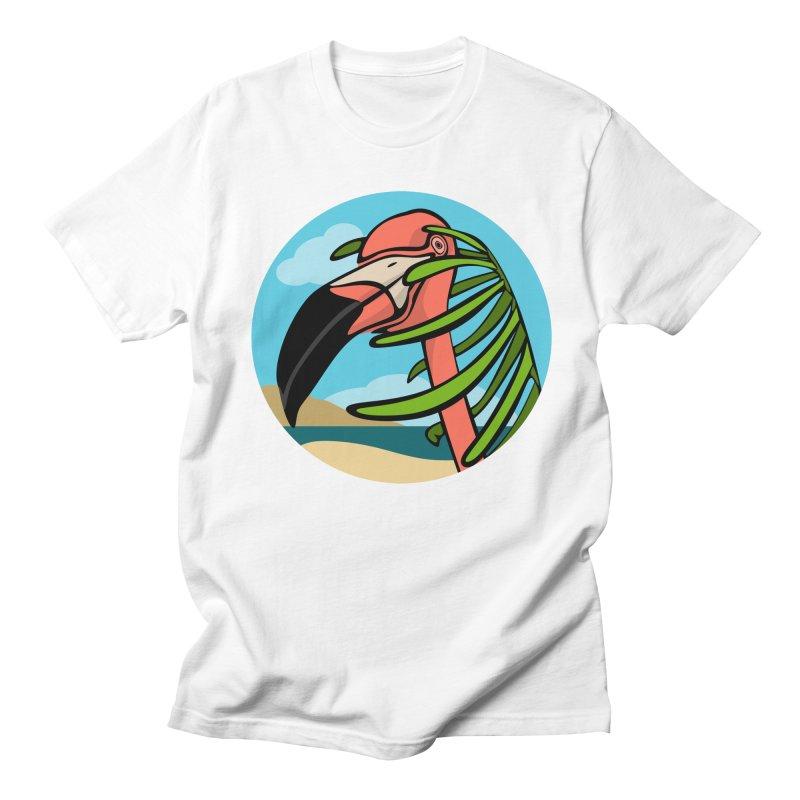 Flamingo Palm Men's T-Shirt by elledeegee's Artist Shop