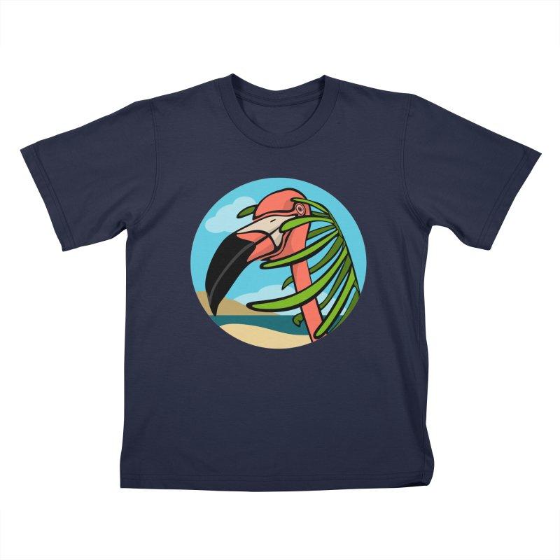 Flamingo Palm Kids Toddler T-Shirt by elledeegee's Artist Shop