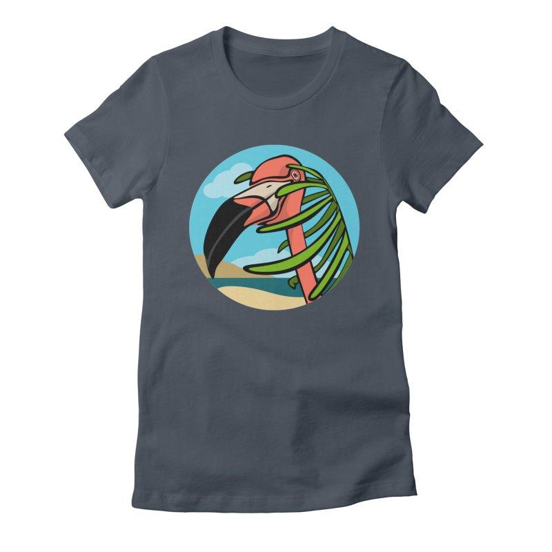 Flamingo Palm Women's T-Shirt by elledeegee's Artist Shop