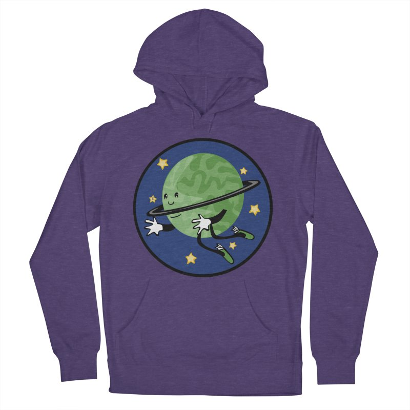 Planetary Friendship Men's French Terry Pullover Hoody by elledeegee's Artist Shop