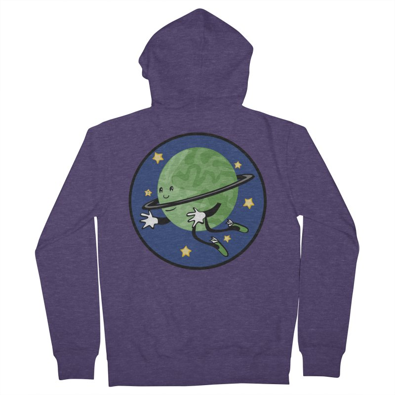 Planetary Friendship Men's French Terry Zip-Up Hoody by elledeegee's Artist Shop
