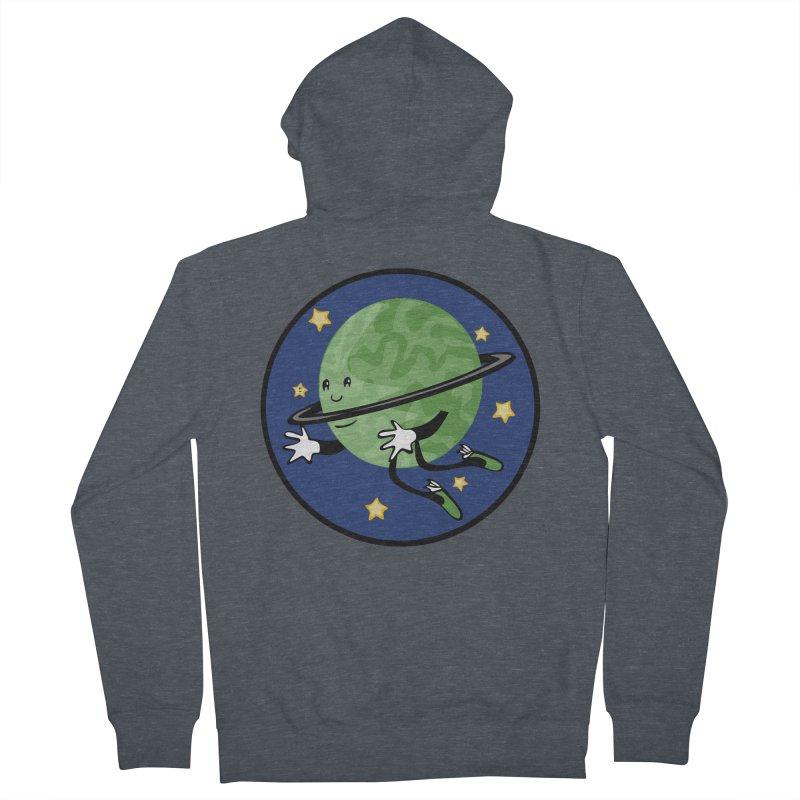 Planetary Friendship Men's French Terry Zip-Up Hoody by elledeegee's Artist Shop