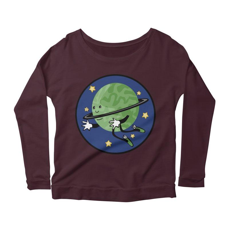 Planetary Friendship Women's Longsleeve Scoopneck  by elledeegee's Artist Shop