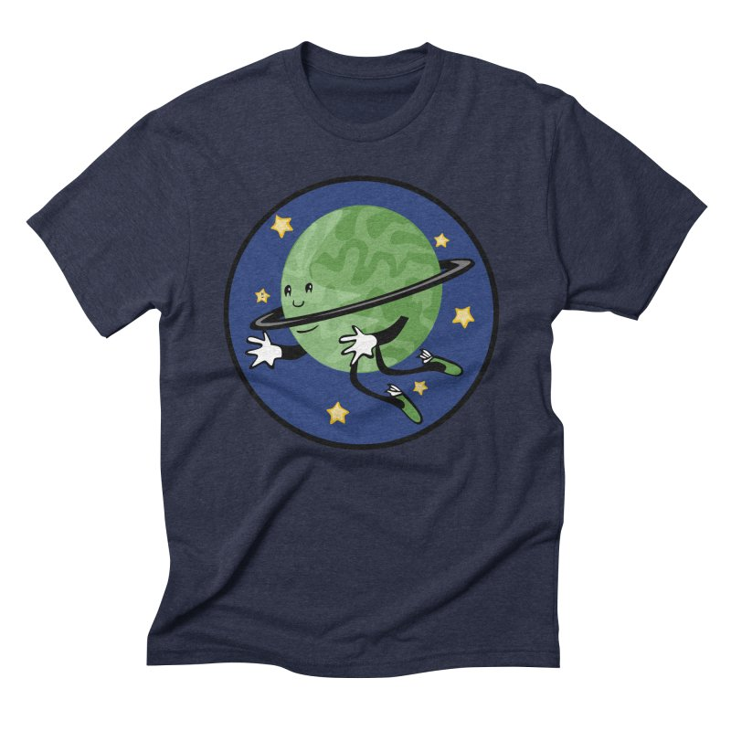 Planetary Friendship Men's Triblend T-shirt by elledeegee's Artist Shop