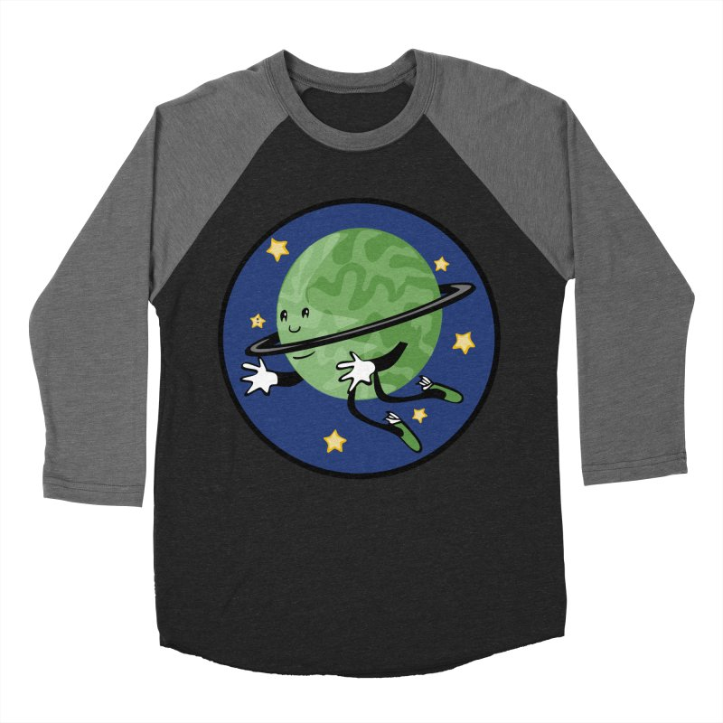 Planetary Friendship Men's Baseball Triblend T-Shirt by elledeegee's Artist Shop