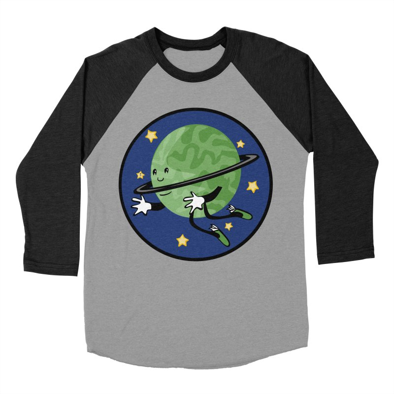 Planetary Friendship Men's Baseball Triblend Longsleeve T-Shirt by elledeegee's Artist Shop