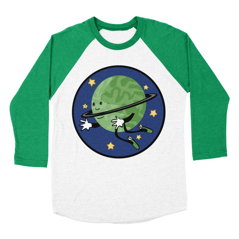 Planetary Friendship Men's Baseball Triblend Longsleeve T-Shirt by elledeegee's Artist Shop