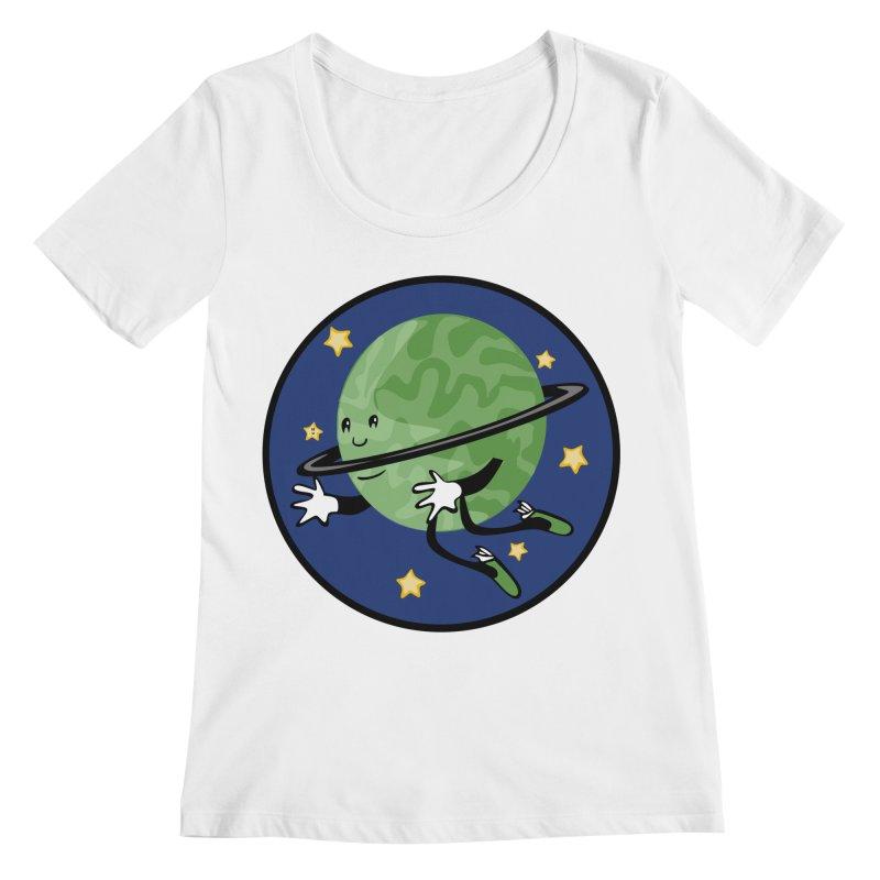Planetary Friendship Women's Scoopneck by elledeegee's Artist Shop