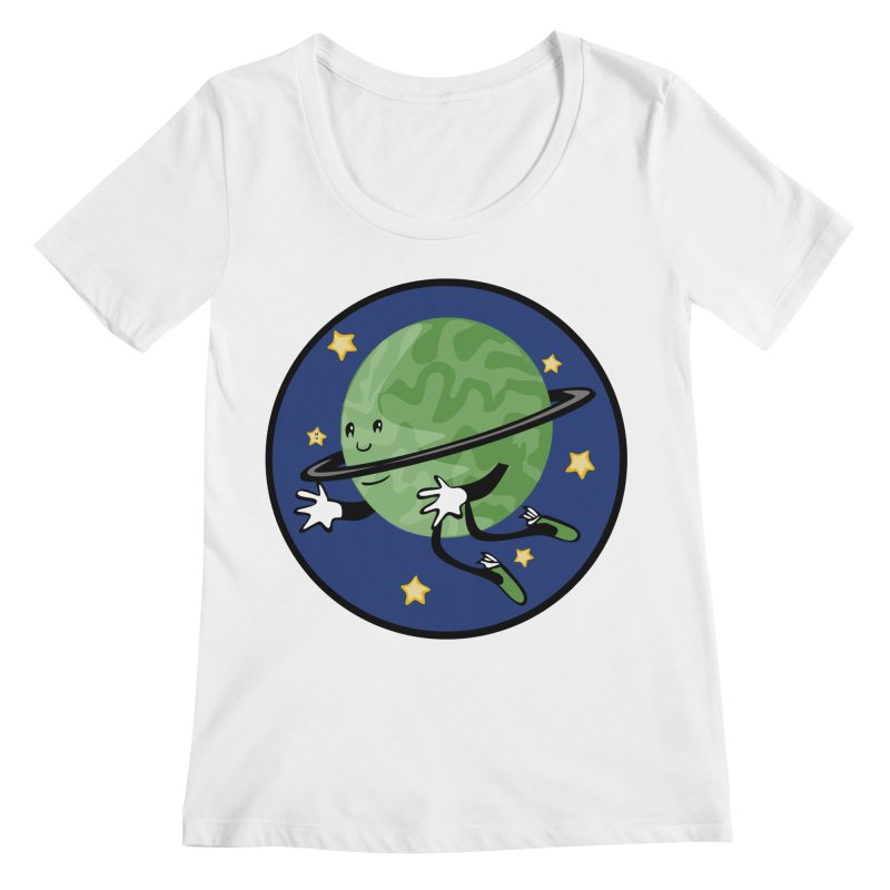 Planetary Friendship Women's Regular Scoop Neck by elledeegee's Artist Shop