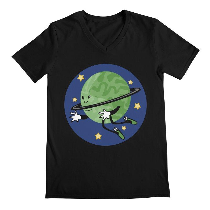 Planetary Friendship Men's Regular V-Neck by elledeegee's Artist Shop