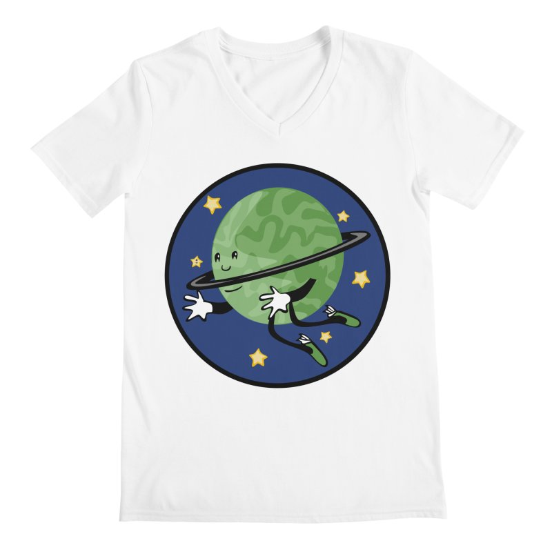 Planetary Friendship Men's V-Neck by elledeegee's Artist Shop