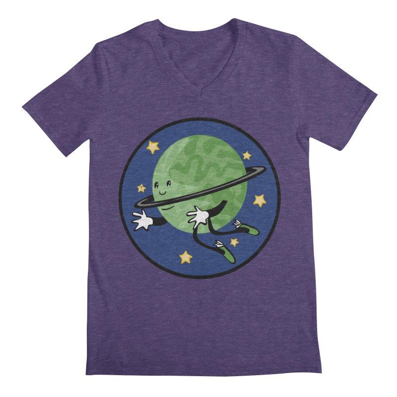 Planetary Friendship Men's V-Neck by elledeegee's Artist Shop