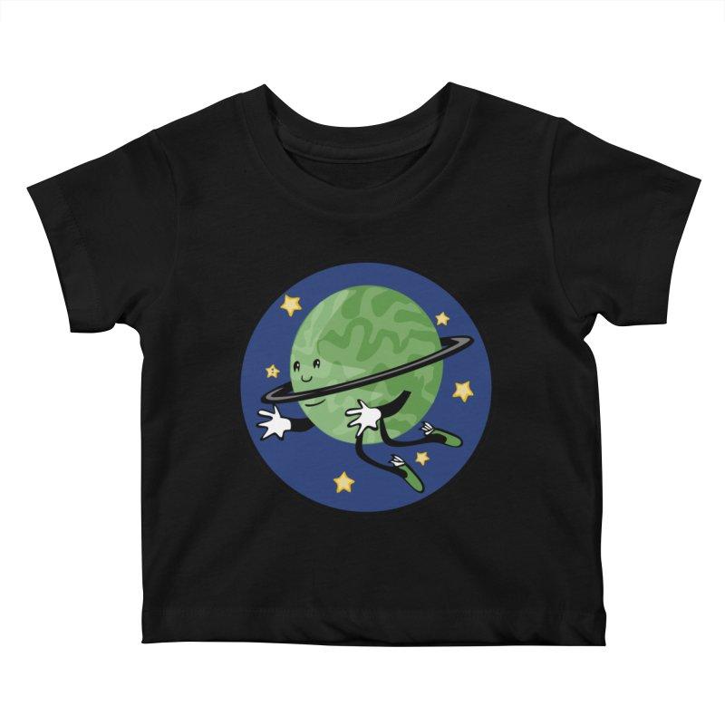 Planetary Friendship Kids Baby T-Shirt by elledeegee's Artist Shop