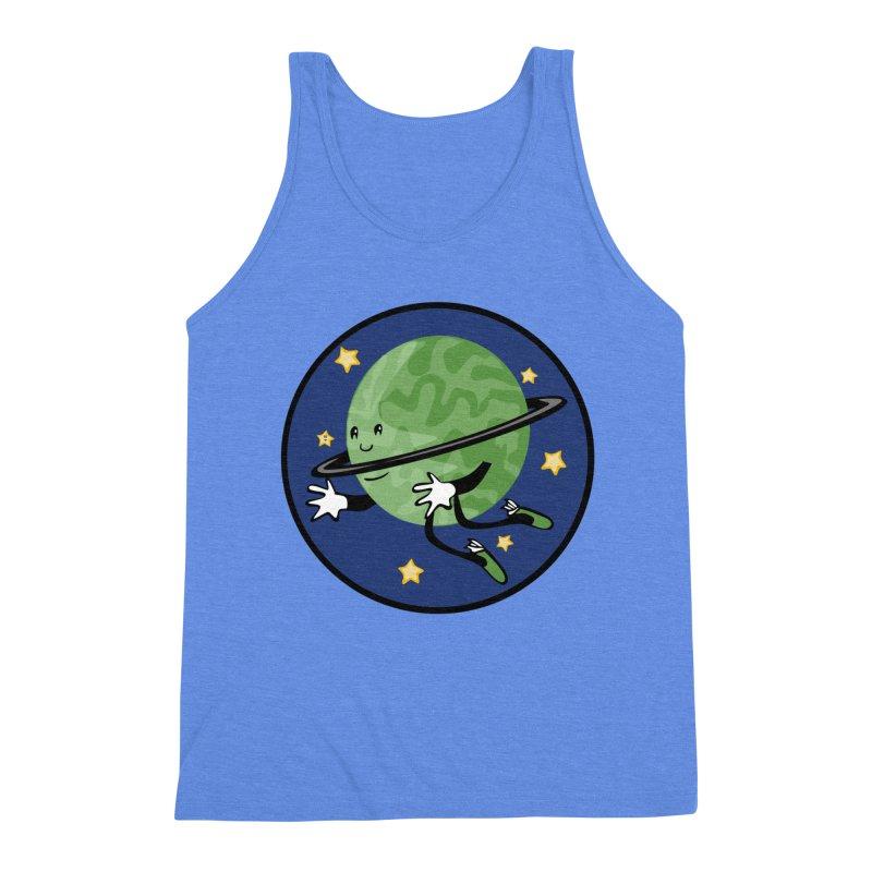 Planetary Friendship Men's Triblend Tank by elledeegee's Artist Shop