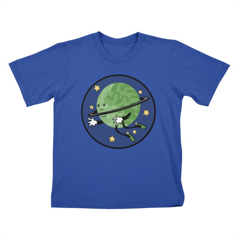 Planetary Friendship Kids T-Shirt by elledeegee's Artist Shop