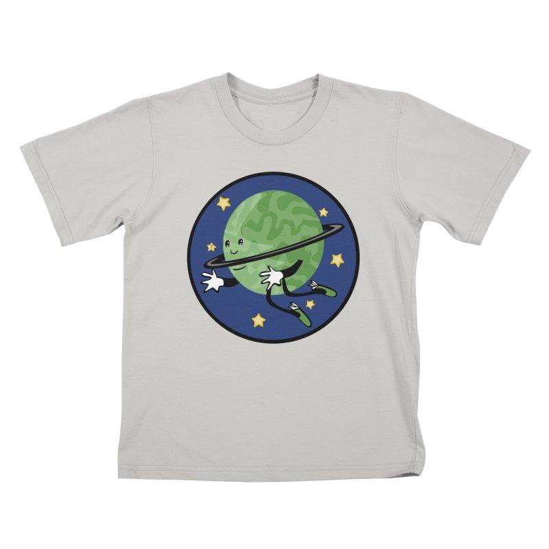 Planetary Friendship Kids T-Shirt by elledeegee's Artist Shop