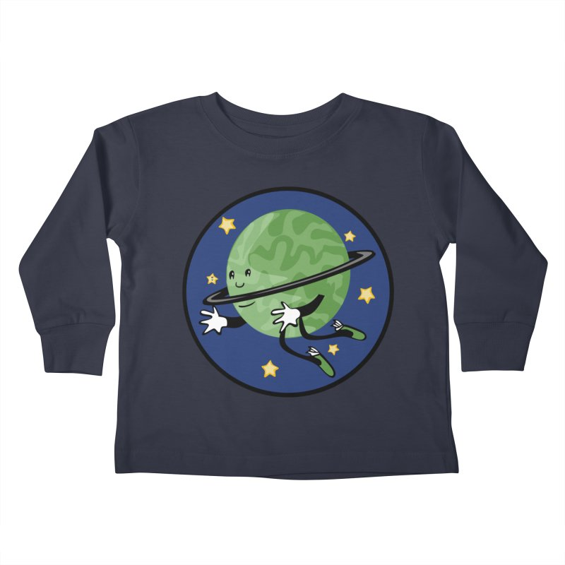 Planetary Friendship Kids Toddler Longsleeve T-Shirt by elledeegee's Artist Shop