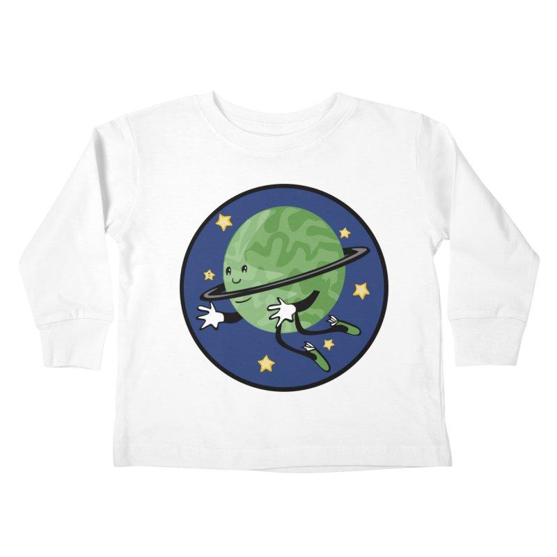 Planetary Friendship Kids Toddler Longsleeve T-Shirt by elledeegee's Artist Shop