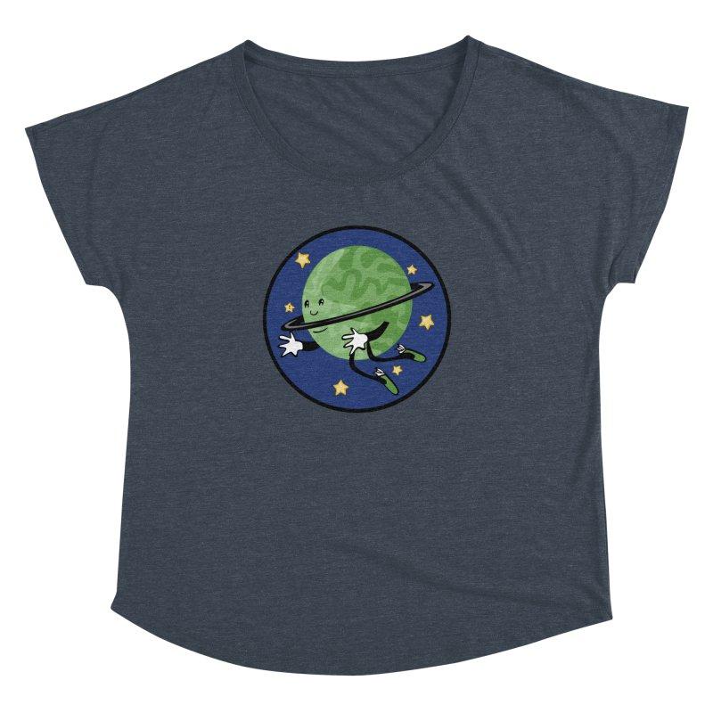 Planetary Friendship Women's Dolman Scoop Neck by elledeegee's Artist Shop