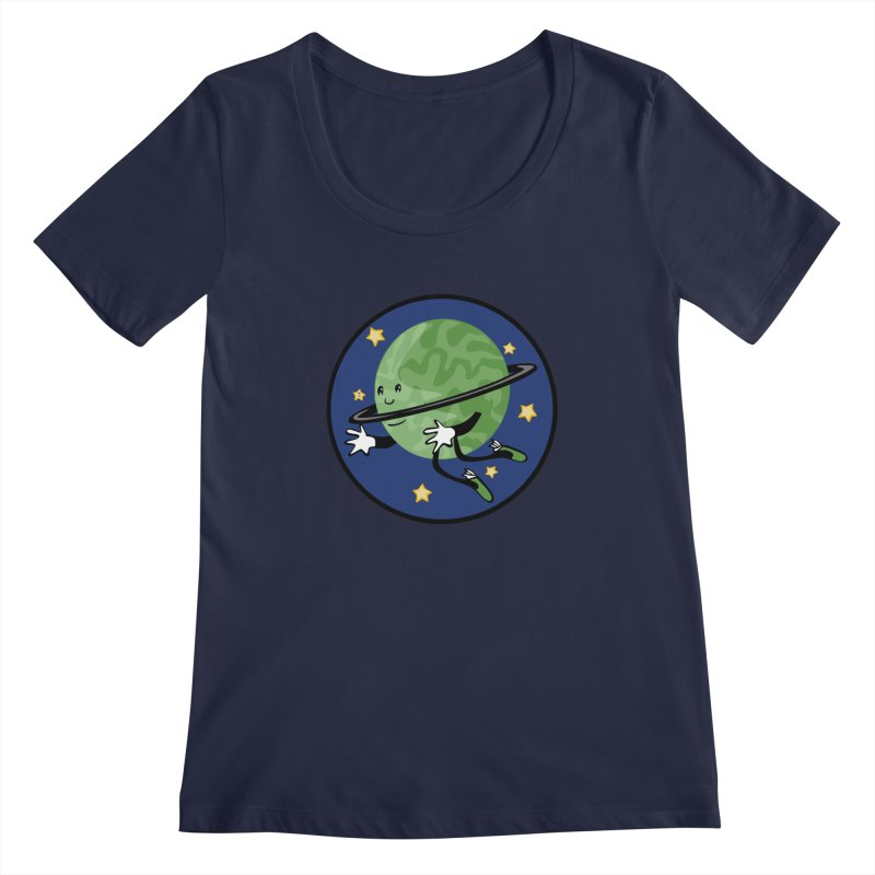 Planetary Friendship Women's Scoopneck by elledeegee's Artist Shop