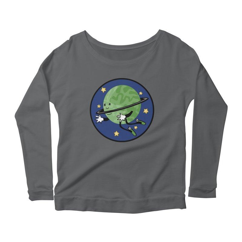 Planetary Friendship Women's Scoop Neck Longsleeve T-Shirt by elledeegee's Artist Shop