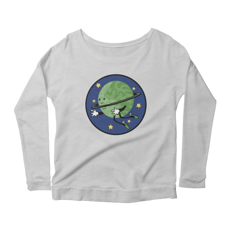 Planetary Friendship Women's Scoop Neck Longsleeve T-Shirt by elledeegee's Artist Shop