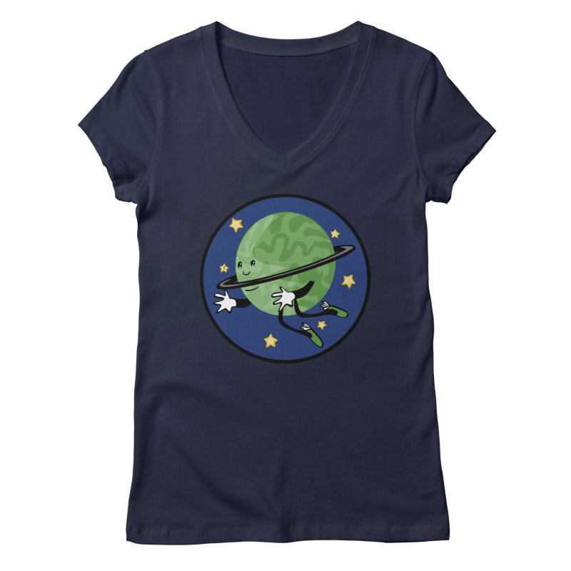 Planetary Friendship Women's Regular V-Neck by elledeegee's Artist Shop