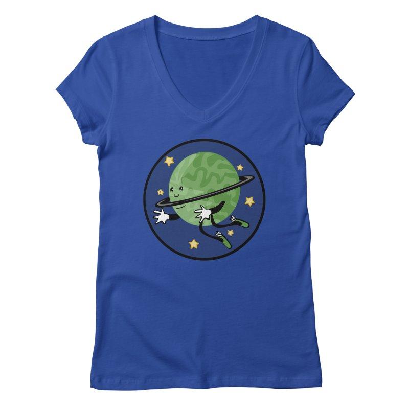Planetary Friendship Women's V-Neck by elledeegee's Artist Shop