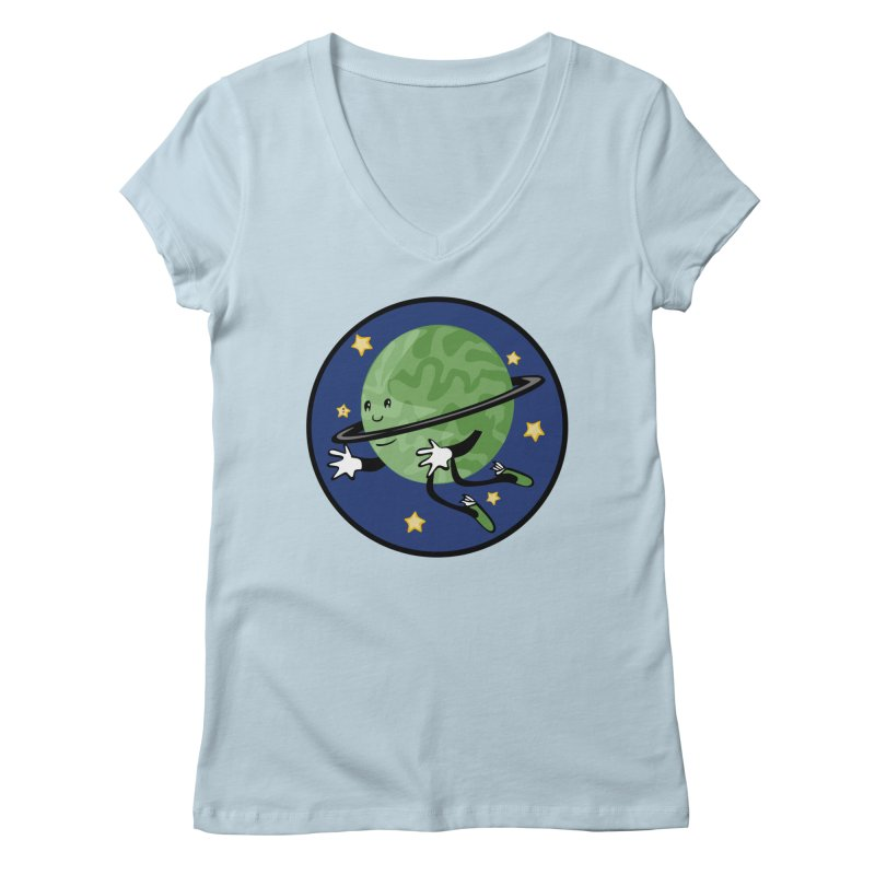 Planetary Friendship Women's Regular V-Neck by elledeegee's Artist Shop