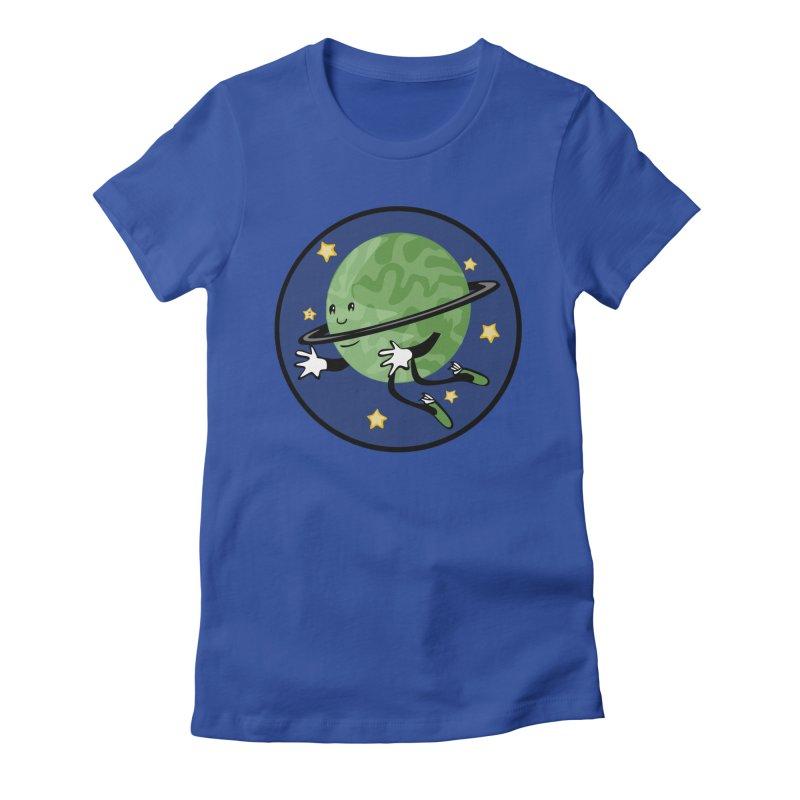 Planetary Friendship Women's Fitted T-Shirt by elledeegee's Artist Shop